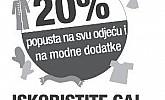 NKD akcija  20% popust