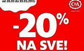 C&A vikend akcija -20% na sve