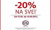 C&A akcija -20% na SVE za Split, Šibenik i Zadar!