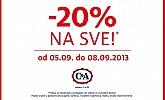 C&A akcija -20% na SVE!