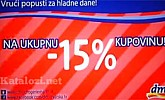 DM vikend akcija -15% sve