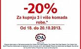 C&A akcija -20%