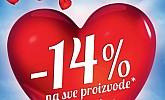 Baumax akcija Valentinovo -14% popusta na sve