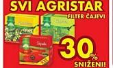 Kaufland popust 30% Agristar čajevi