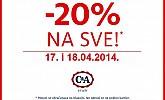 C&A popust -20% na sve