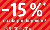 DM -15% popusta na sve!