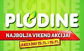 Plodine vikend akcija do 16.11.