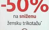 C&A akcija -50% popusta na sniženu žensku trikotažu