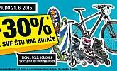 Hervis vikend akcija -30% na sve bicikle, role, romobile