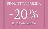 Lisca proljetna akcija -20% popusta