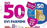 Kozmo vikend akcija parfemi do -50% popusta