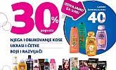 Kozmo vikend akcija -30% proizvodi za njegu kose