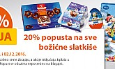 Muller akcija -20% božićni slatkiši