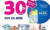 Kozmo vikend akcija -30% svi proizvodi za bebe