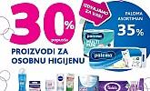 Kozmo vikend akcija -30% proizvodi za osobnu njegu