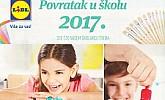 Lidl katalog Povratak u školu 2017