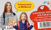Muller kupon -25% popusta školske torbe i ruksaci 2018