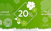 Lesnina akcija -20% na vrtni namještaj