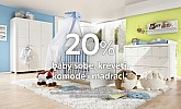 Lesnina akcija 20% popusta baby sobe