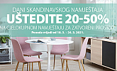 Jysk webshop akcija Dani skandinavskog namještaja.