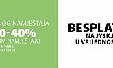 Jysk webshop akcija do 40% Vrtni namještaj