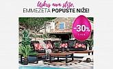 Emmezeta webshop akcija 30% na vrtni namještaj