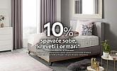 Lesnina webshop akcija 10% na spavaće sobe, krevete i ormare