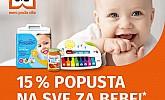 Muller akcija -15% popusta na sve za bebe