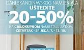 Jysk webshop akcija Dani skandinavskog namještaja do 13.10.