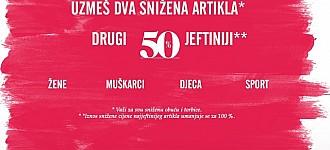 Deichmann akcija -50% na drugi par