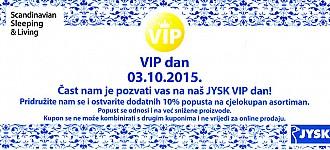 JYSK Vip day -10% popust