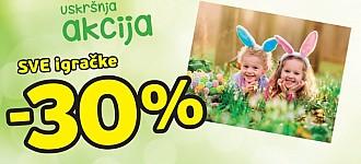 Tisak uskrsna akcija -30% igračke