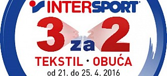Intersport akcija 3 za 2