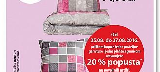 NKD akcija 20% popusta na posteljinu