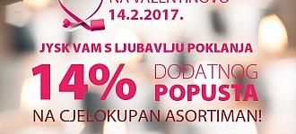 JYSK akcija -14% popusta na sve za Valentinovo