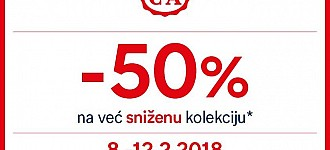 C&A akcija -50% na sniženu kolekciju veljača