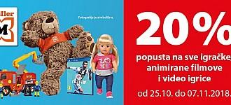 Muller akcija -20% na sve igračke