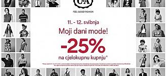 C&A akcija Moji dani mode!