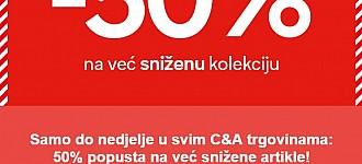 C&A akcija -50% na sniženo