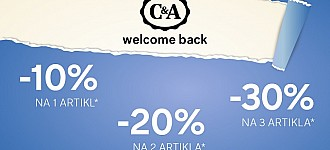 C&A akcija Welcome back