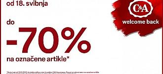 C&A akcija do -70% popusta na označene artikle