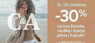 C&A akcija -30% popusta jakne i kaputi