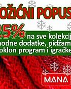 Iskoristite Božićni popust u trgovinama MANA!
