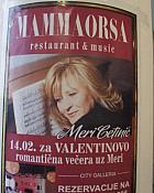 MammaOrsa za Valentinovo vas poziva na koncert Meri Cetinić!