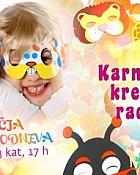 Karnevalska kreativna radionica, u već poznatom terminu, subota, 3.kat, 17 sati!