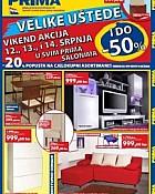 Prima namještaj vikend akcija do 14.07. 2012