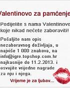 Topshop nagradna igra Valentinovo Dobitnici
