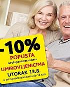 Konzum -10% popusta za umirovljenike