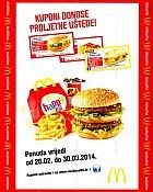 McDonalds kuponi ožujak 2014