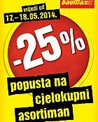 Baumax akcija -25% na cjelokupni asortiman